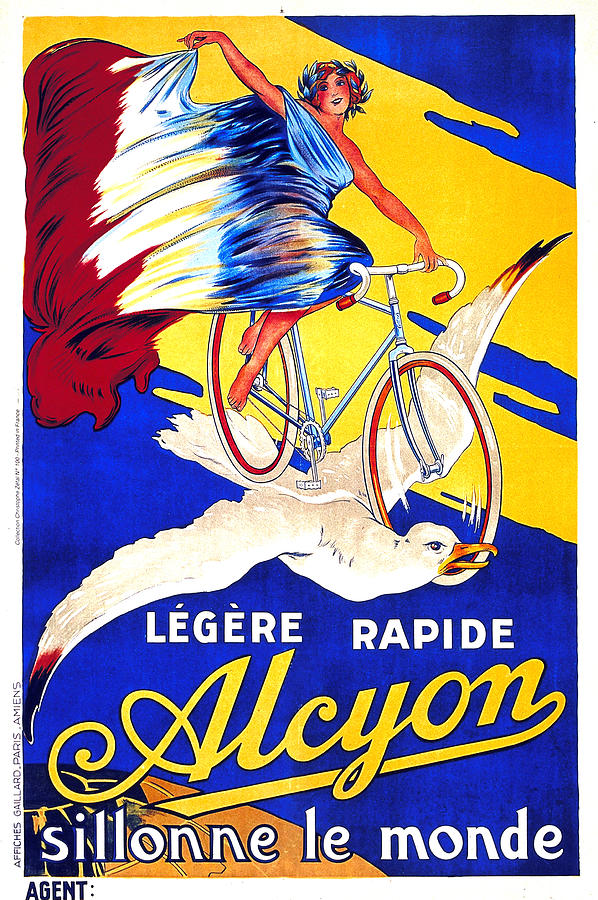 Alcyon Cycles - Vintage French Advertising Poster Mixed Media