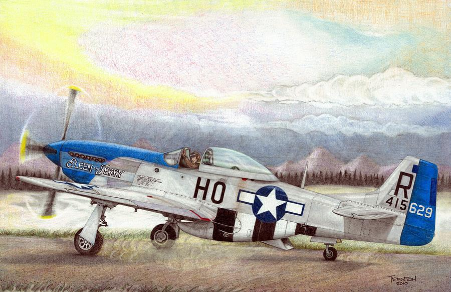 Ace Drawing - Alden Rigby - Blue Nose Warrior by Trenton Hill