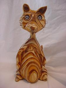 Alderic The Cat-sold Sculpture by Lisa Ruggiero
