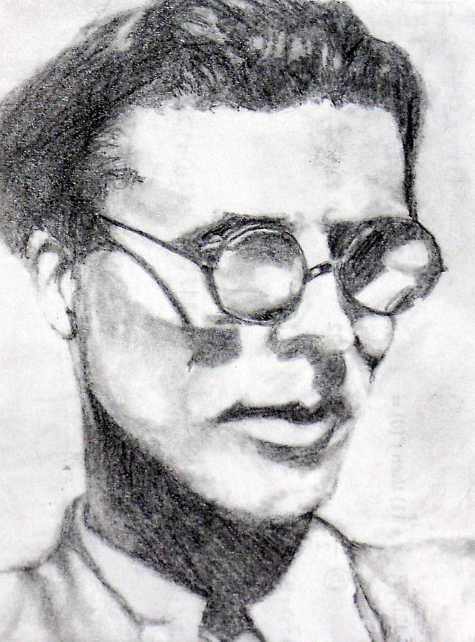 Aldous Huxley Drawing by K Ramsey
