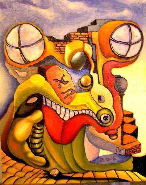 Israel Painting - Alef-bet by Kosta Kachkachev