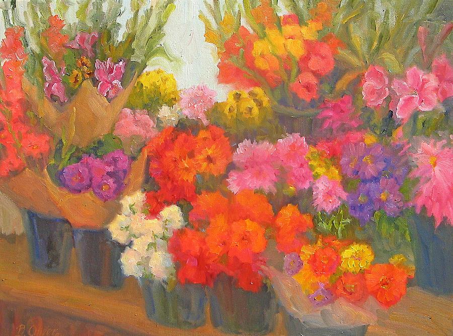Flowers Painting - Alegria De Vivir by Bunny Oliver