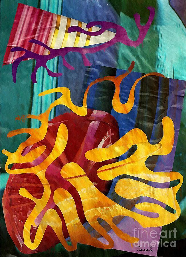 Abstract Mixed Media - Alegria by Sarah Loft