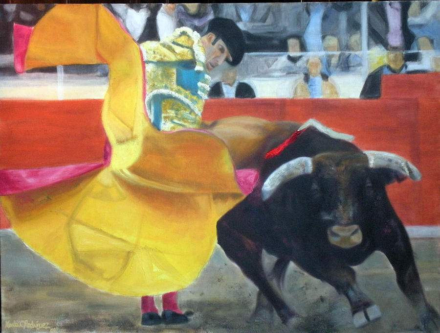 Expressionism Painting - Alegria Taurina by Karla Cecilia Rodriguez