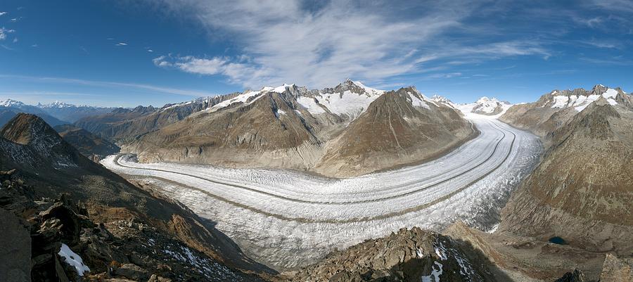 Aletsch Glacier Photograph - Aletsch Glacier, Switzerland by Dr Juerg Alean