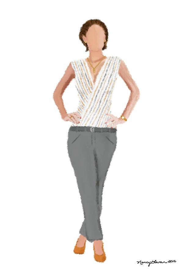 Fashion Digital Art - Alex by Nancy Levan