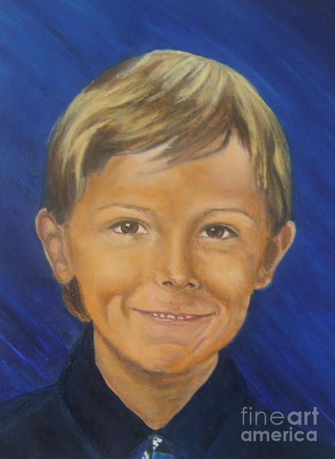 Portrait Painting - Alex by Nancy Rucker