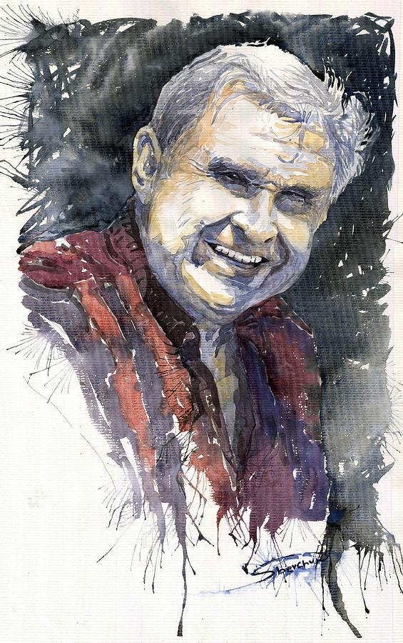 Watercolour Painting - Alex by Yuriy  Shevchuk