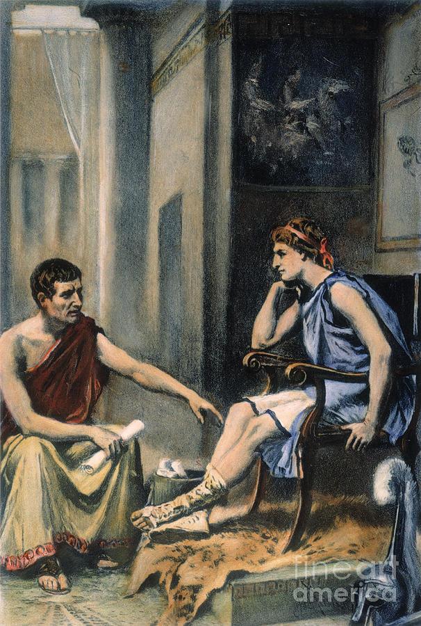 Alexander The Great Photograph - Alexander & Aristotle by Granger