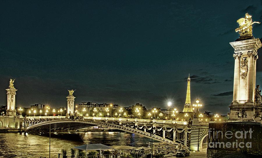 Alexander III Bridge in Gold by Tim Mulina