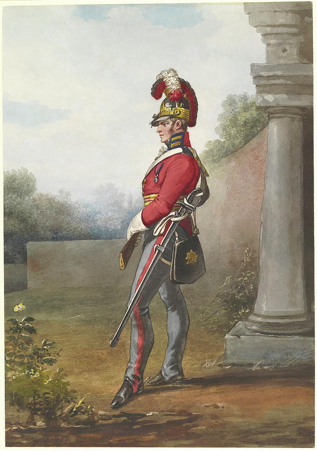 Man Painting - Alexander Ivanovitch Sauerweid 1783-1844 British Army. Private, Life Guards. About 1816 by Alexander Ivanovitch Sauerweid