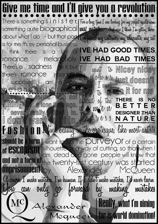Alexander Mcqueen Fashion Motivational Inspirational Independent Quotes