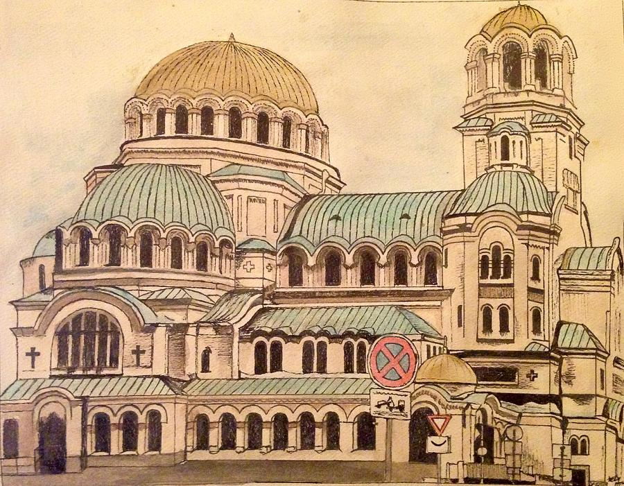 Cathedral Painting - Alexander Nevsky Cathedral by Lauren Ullrich