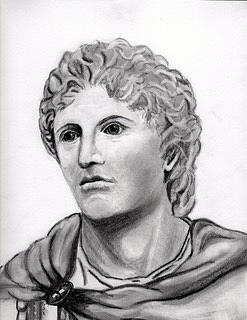 alexander the great drawing by susan lang