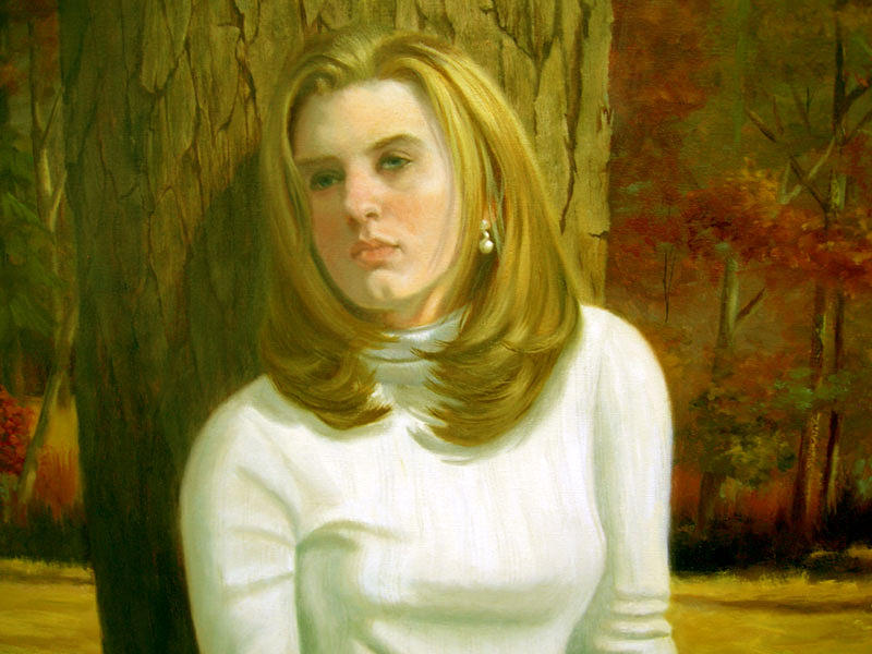 Portrait Painting - Alexandria Deatail by Pat Aube Gray