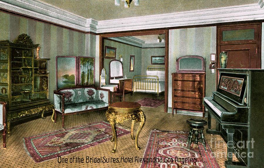 Alexandria Hotel Photograph - Alexandria Hotel Bridal Suite Los Angeles 1906-1915 by Sad Hill - Bizarre Los Angeles Archive