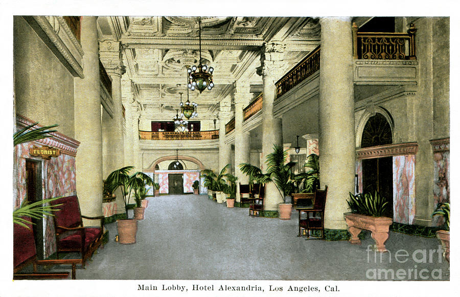 Alexandria Hotel Photograph - Alexandria Hotel - Los Angeles - 1937 by Sad Hill - Bizarre Los Angeles Archive