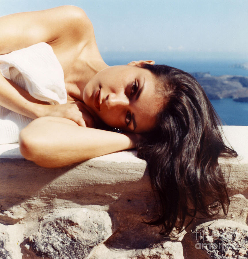 Alexis Photograph - Alexis In Santorini Iv by Andrea Simon