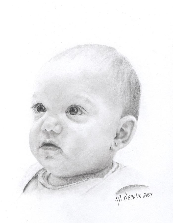 Baby Drawing - Alexis by Marlene Piccolin