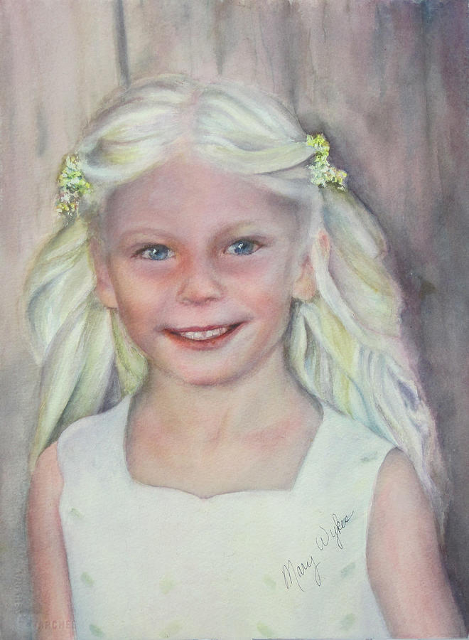 Child Painting - Alexis by Mary Beglau Wykes