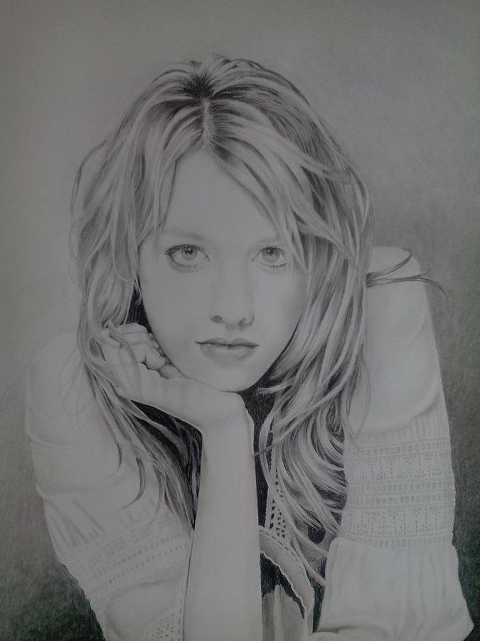 Drawing Drawing - Alexz Johnson by Zdzislaw Dudek