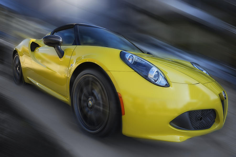 Alfa Photograph - Alfa Romeo 4c Spider by Larry Helms