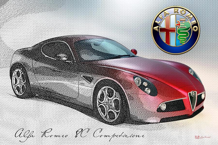Alfa Romeo 8c Competizione Photograph - Alfa Romeo 8C Competizione  by Serge Averbukh