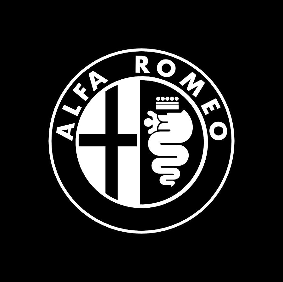 Alfa Romeo Black And White Digital Art By Eva Sartiyem Symbol Car