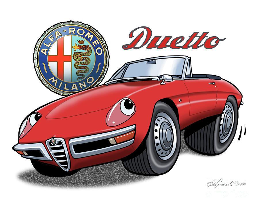 Alfa Romeo Duetto Cartoon by Rick Andreoli