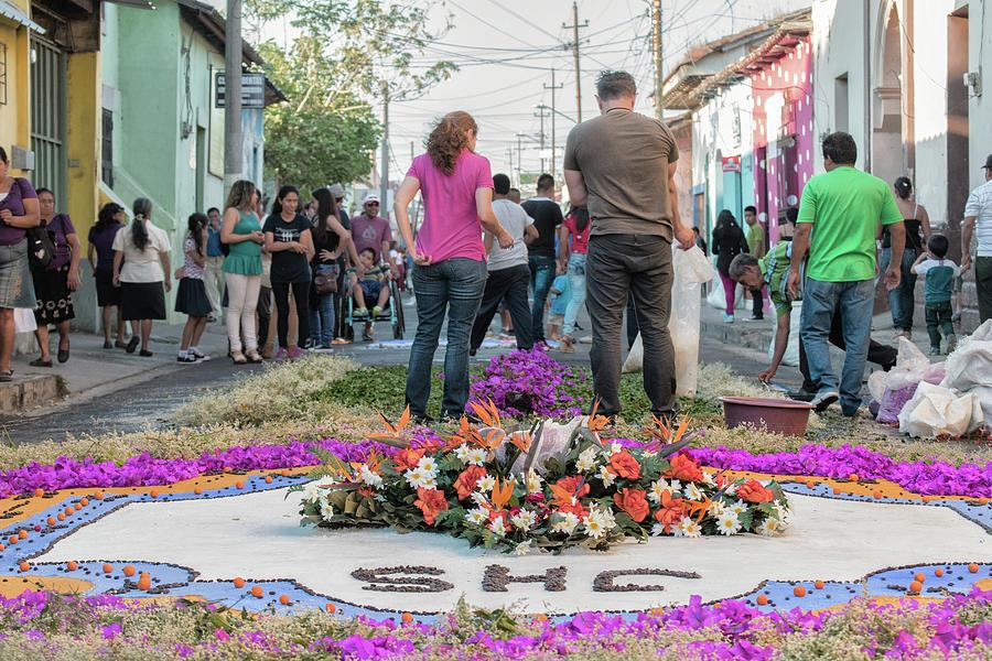 Alfombras Ahuachapan El Salvador Photograph By Totto Ponce