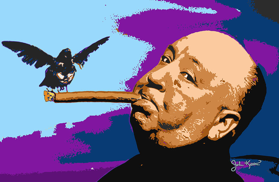 Hitchcock Digital Art - Alfred Hitchcock by John Keaton