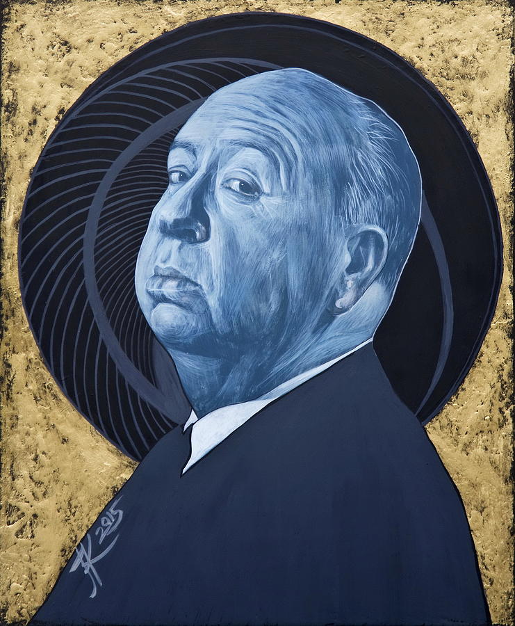 Hitchcock Painting - Alfred Hitchcock by Jovana Kolic