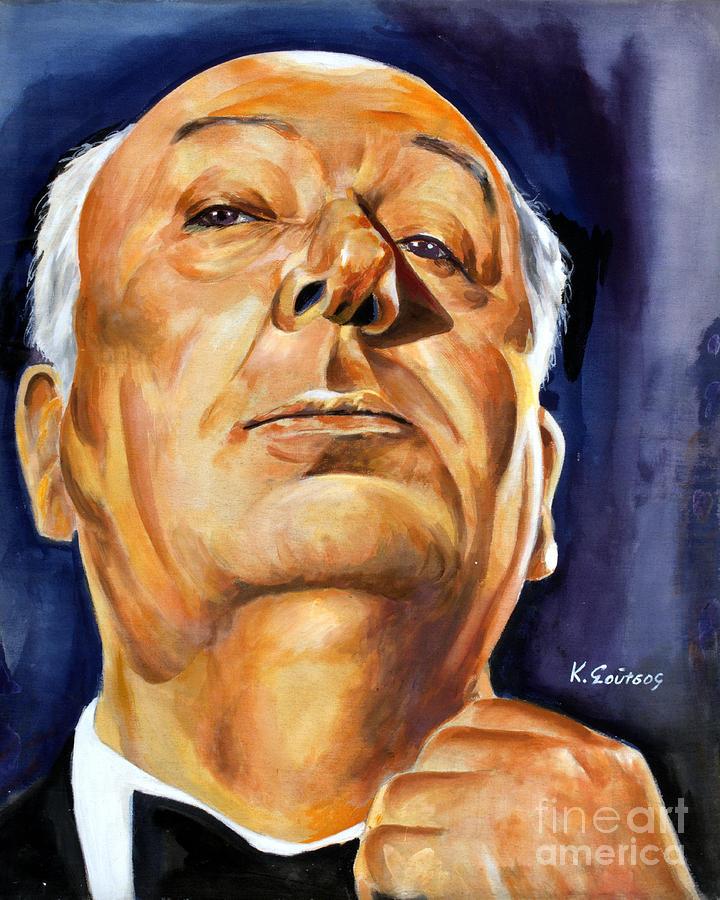 Alfred Hitchcock by Star Portraits Art