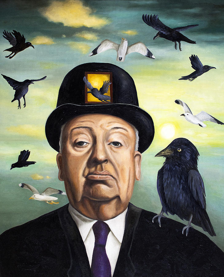 Alfred Hitchcock Painting - Alfred Hitchcock by Leah Saulnier The Painting Maniac