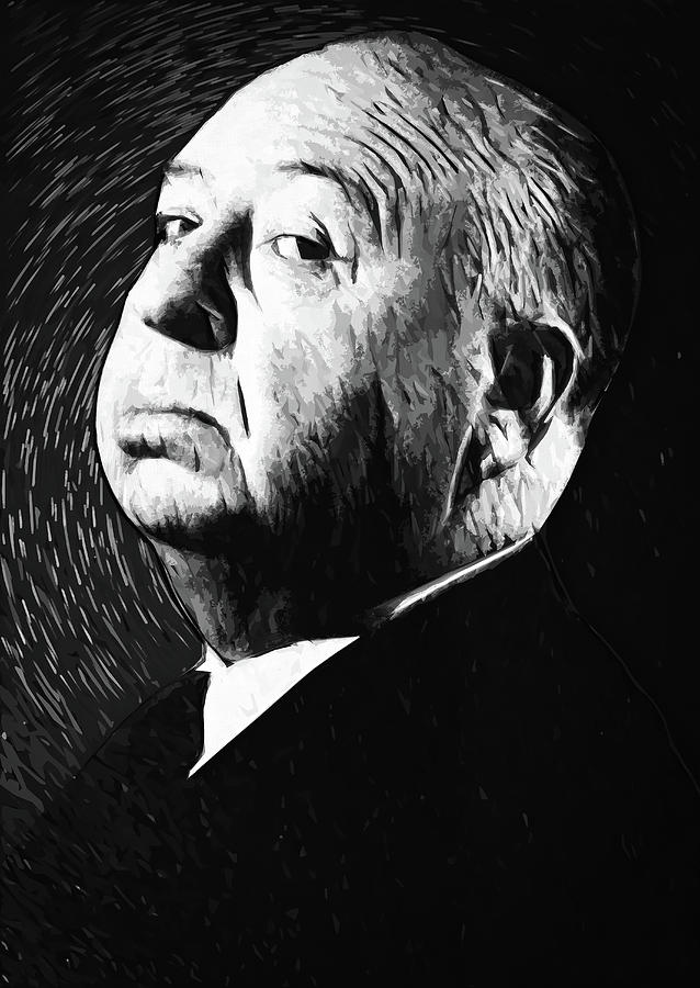 Alfred Hitchcock Digital Art - Alfred Hitchcock by Zapista Zapista
