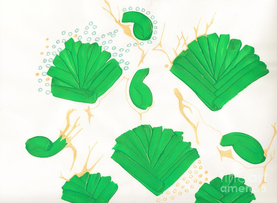 Algae Mixed Media - Algae Blooms by Mary Mikawoz