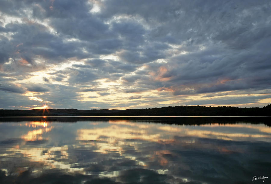 Landscape Photograph - Algonquin Lake Sunset by Phill Doherty
