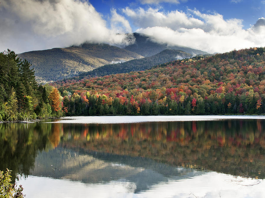 Fall Photograph - Algonquin Peak From Heart Lake - Adirondack Park - New York by Brendan Reals