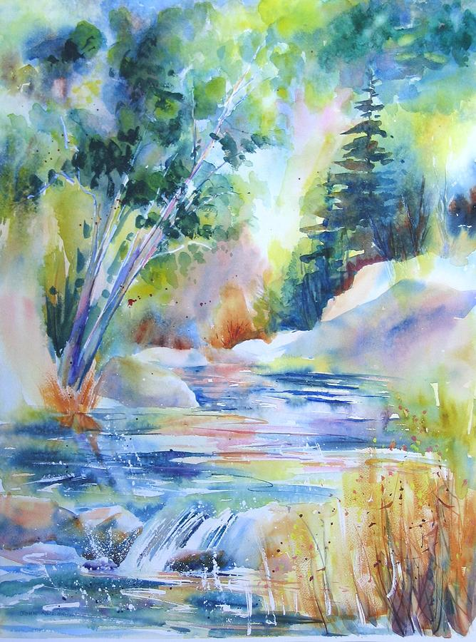 Abstract Paintings Painting - Algonquin Waters by John Nussbaum