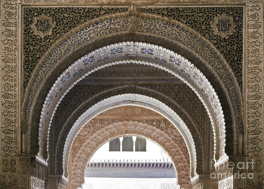 Alhambra Photograph - Alhambra Arches by Jane Rix