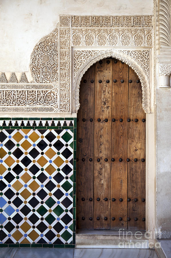 Alhambra Photograph - Alhambra Door Detail by Jane Rix