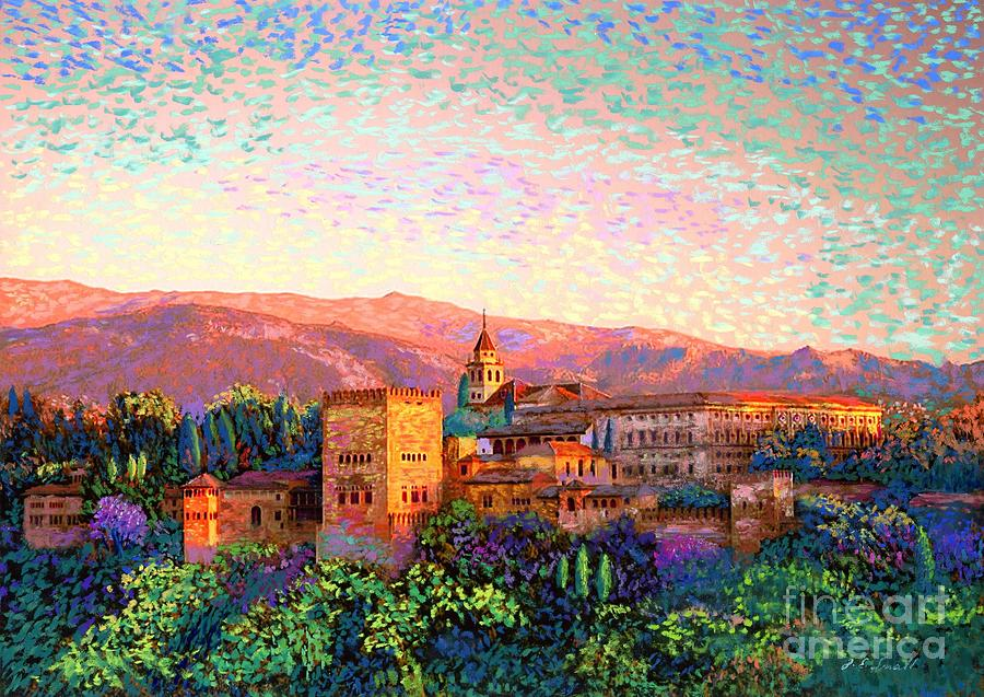 Spain Painting - Alhambra, Granada, Spain by Jane Small