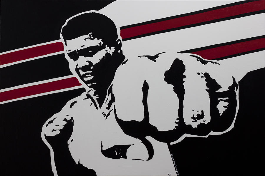 Boxing Painting - Ali by Alexander Fritz