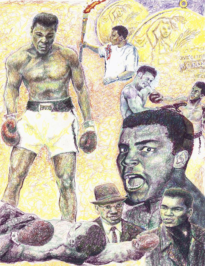 Ali Drawing - Ali by Charles  Bickel