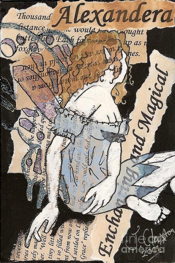 Fairy Mixed Media - Ali Fairy by Joanne Claxton