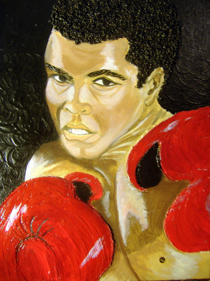 Portrait Painting - Ali- I Am The Greatest by Keenya  Woods