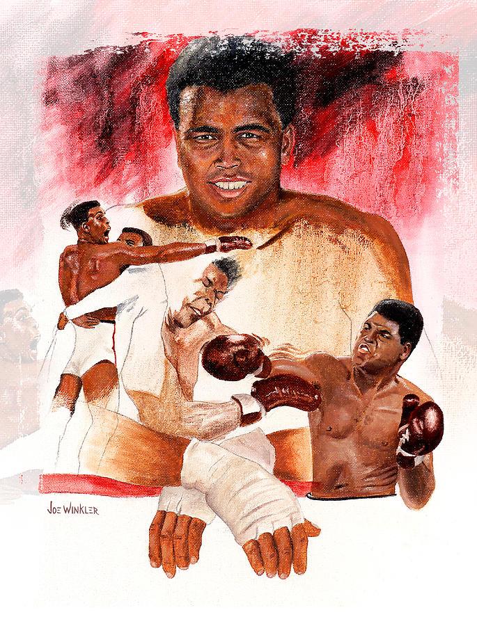 Boxing Painting - Ali by Joe Winkler
