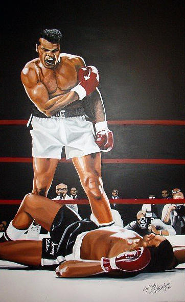 Boxing Painting - Ali by Shea Rutherford