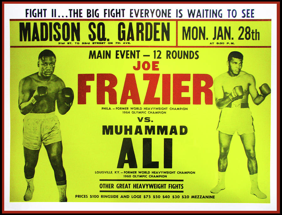 Ali Photograph - Ali Vs Frazier Boxing Poster by Digital Reproductions