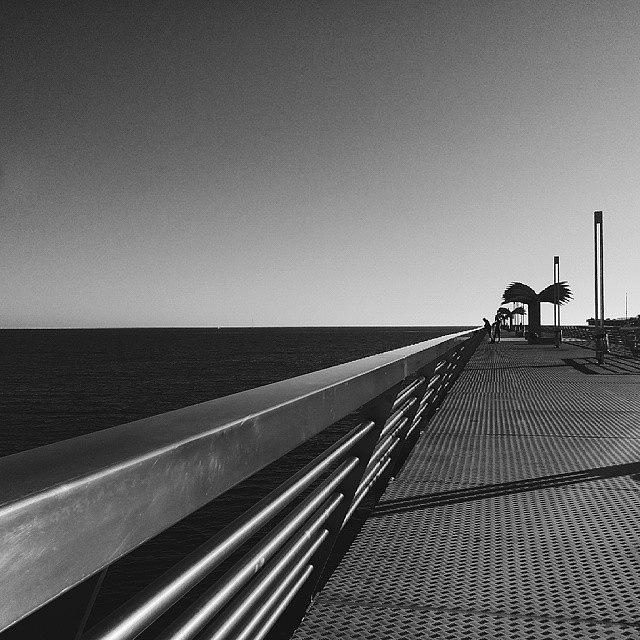 Shadows Photograph - #alicante #mediterranean #spain  #pier by Michelle Olaya
